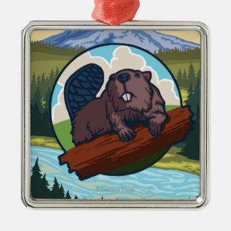 Beaver & Mt. Hood - Troutdale, Oregon Ornament