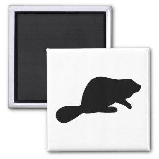 Beaver Silhouette Magnet