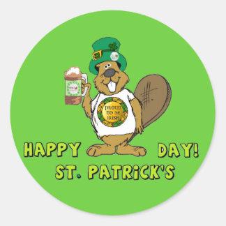 Beaver - St Patrick s Day Sticker