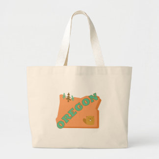 Beaver State Oregon Jumbo Tote Bag