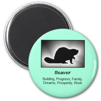 Beaver Totem Animal Spirit Meaning 6 Cm Round Magnet