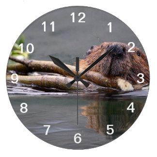 Beaver Working Large Clock