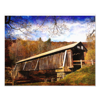 Beaverkill Covered Bridge Art Photo