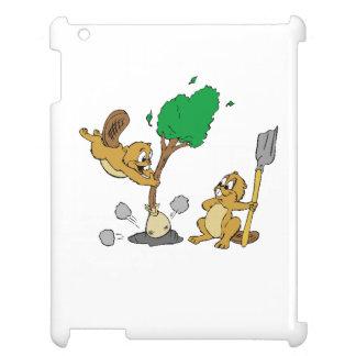 Beavers Planting Tree iPad Cases