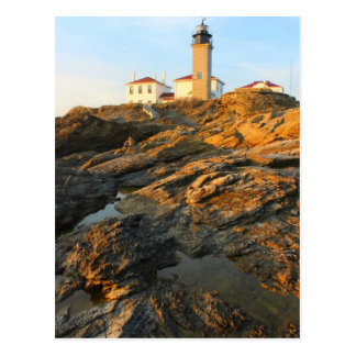 Beavertail Lighthouse Jamestown Rhode Island Postcard