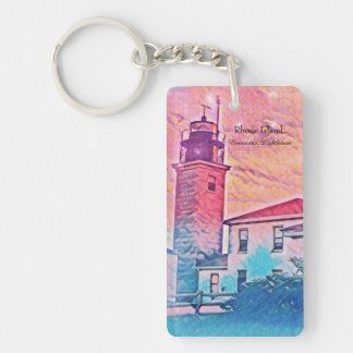Beavertail Lighthouse Rhode Island  Key chain