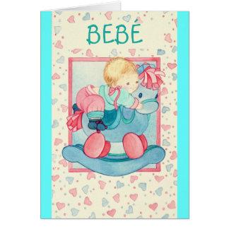 """""""BEBÉ EN PONEYES"""" - Tarjeta Feliz Nacimiento Card"""