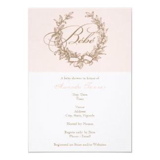 Bebe - Pink French Baby Shower Invitation