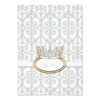 Bébé Princess Crown Baby Shower Invitation