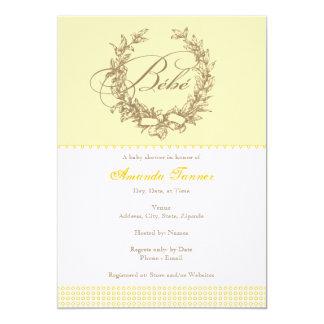 Bebe - Yellow French Baby Shower Invitation