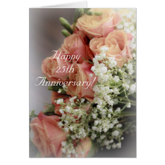 Because.... 25th Anniversary Floral Design Card