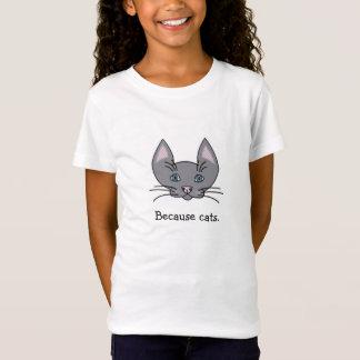 Because cats. Girls' Fine Jersey T-Shirt