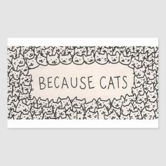 """""""Because Cats"""" stickers"""