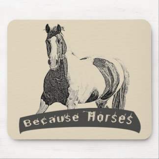 Because Horses Mouse Pad