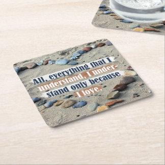 Because I Love Square Paper Coaster