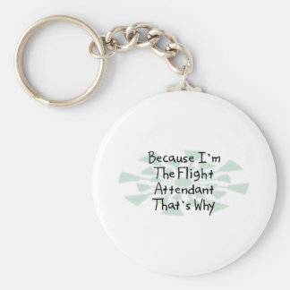 Because I'm the Flight Attendant Key Ring