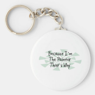 Because I'm the Painter Key Ring