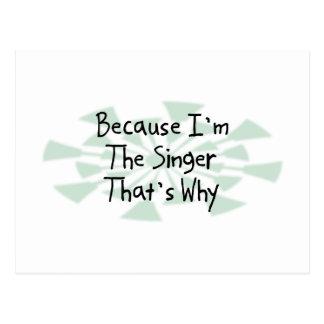 Because I'm the Singer Postcard