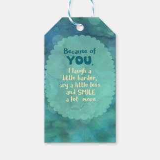Because of You Gift Tags