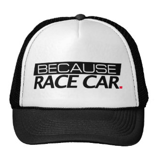Because Race Car Cap