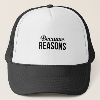 Because Reasons Trucker Hat
