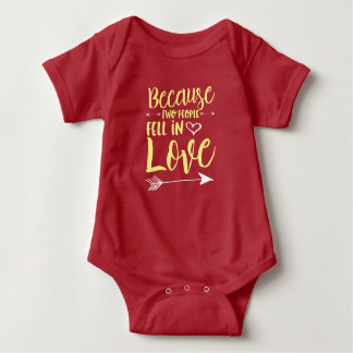 Because Two People Fell In Love Baby Bodysuit
