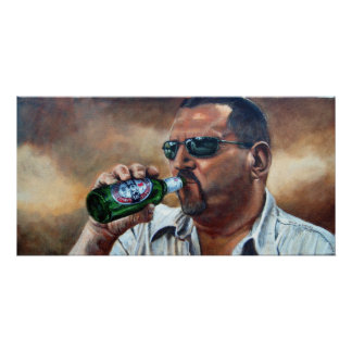 Beck s Man drinking beer Poster