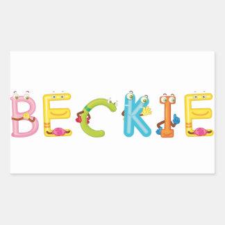 Beckie Sticker