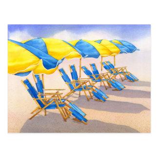 Beckoning Beachbrellas Postcard