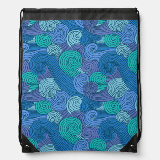 Beckoning Ocean Drawstring Bag