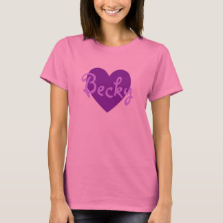 Becky in Purple T-Shirt