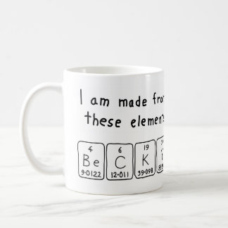 Becky periodic table name mug