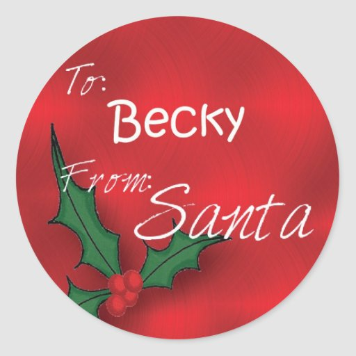 Personalized Gift Tags From Santa | New Calendar Template Site