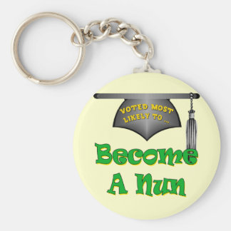 Become A Nun Basic Round Button Key Ring