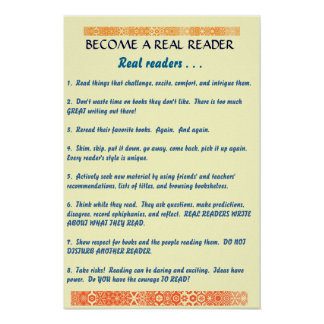 become a real reader poster