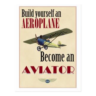 Become an Aviator Postcard