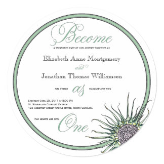 Become as One Scottish Thistle Wedding Invitation