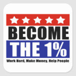 Become the One Percent, Anti-Occupy Wall Street Stickers