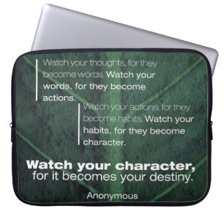 Becomes Your Destiny Laptop Sleeve
