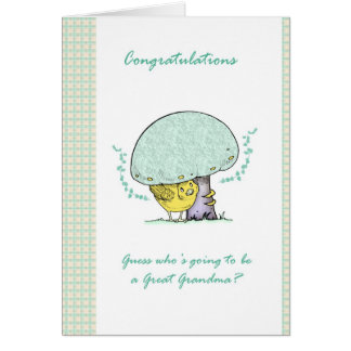 Becoming a Great Grandmother Greeting Card