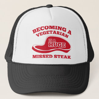 Becoming A Vegetarian Is A Huge Missed Steak Trucker Hat