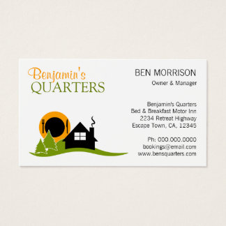 Bed and Breakfast B&B Business Card