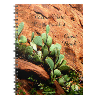 Bed & Breakfast B&B Guest Book Hanging Cactus
