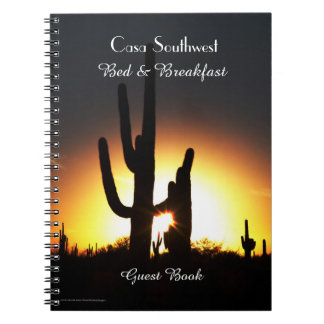 Bed & Breakfast B&B Guest Book Saguaro Sunset