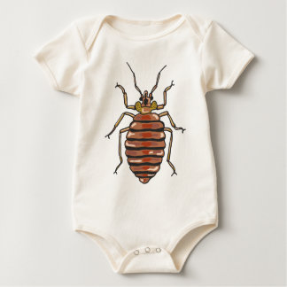 Bed Bug Sketch Baby Bodysuit
