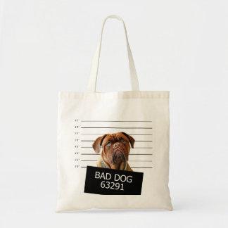 Bed dog - mastiff tote bag