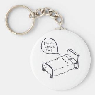 Bed Joke Shirt and Apparel Key Ring