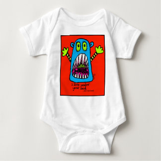 Bed Monster Baby Bodysuit