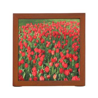 Bed of Red Tulips Desk Organiser