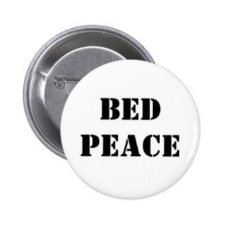 Bed Peace 6 Cm Round Badge